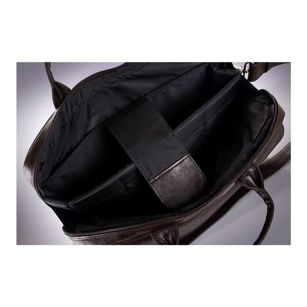 Pánska kožená taška Solier SL30, hnedá