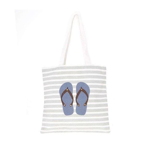 Plážová plátená taška Blue Flip Flops