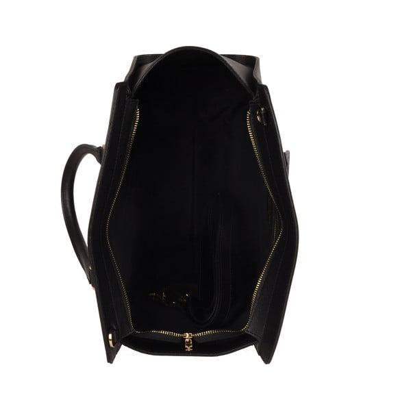 Kožená kabelka Emilio Masi Harbour, čierna