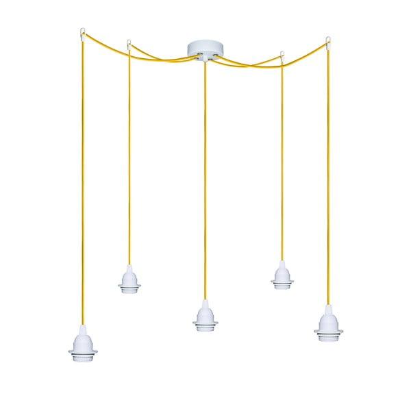 Päť závesných káblov Uno+, žltý/biely