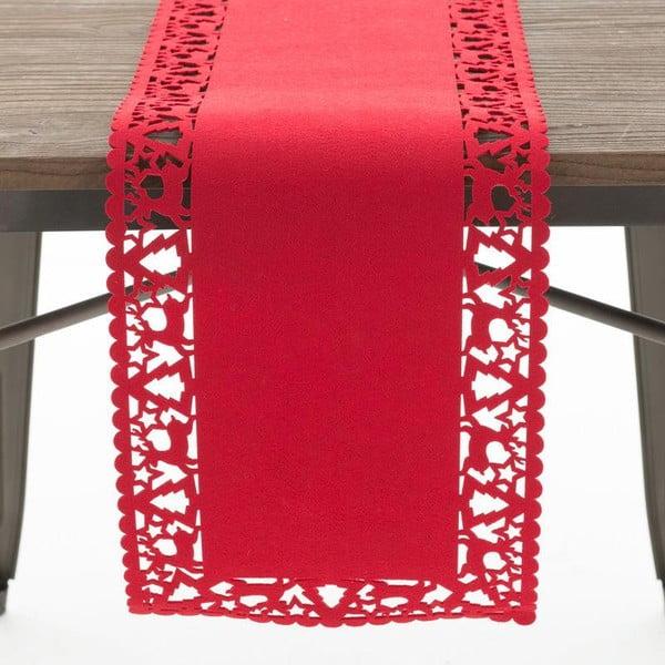 Behúň Felt Xmas Red, 30x120 cm