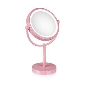Zrkadlo s osvetlením Markslöjd Make-up, ružové