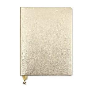 Zápisník vo svetlozlatej farbe GO Stationery All That Glitters Metalic