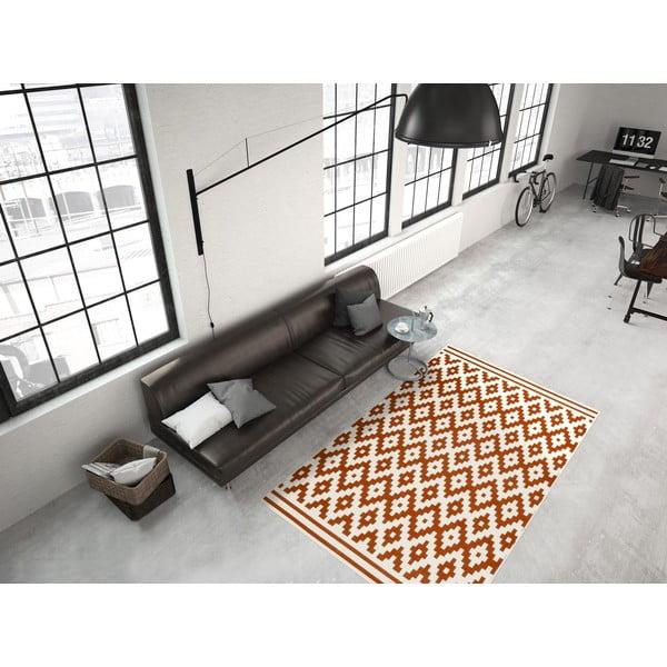 Oranžovo-biely koberec Kayoom Stella 300, 200x290cm