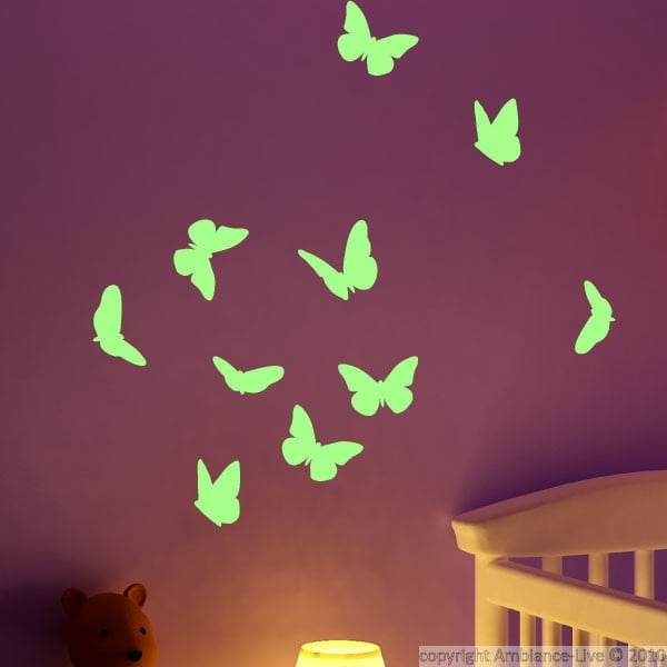Samolepka svietiaca v tme Ambiance Butterflies