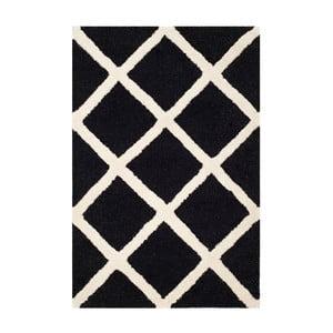 Vlnený koberec Sophie Black, 91x152 cm