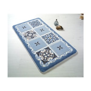 Modrá kúpeľňová predložka Confetti Bathmats Ceramic, 57×100cm