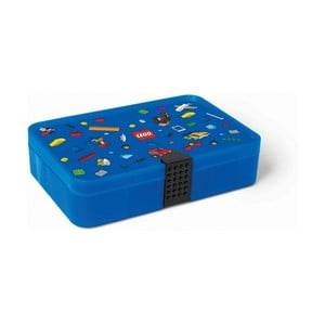Modrý úložný box s priehradkami LEGO® Iconic