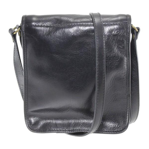 Čierna kožená taška Chicca Borse Roads