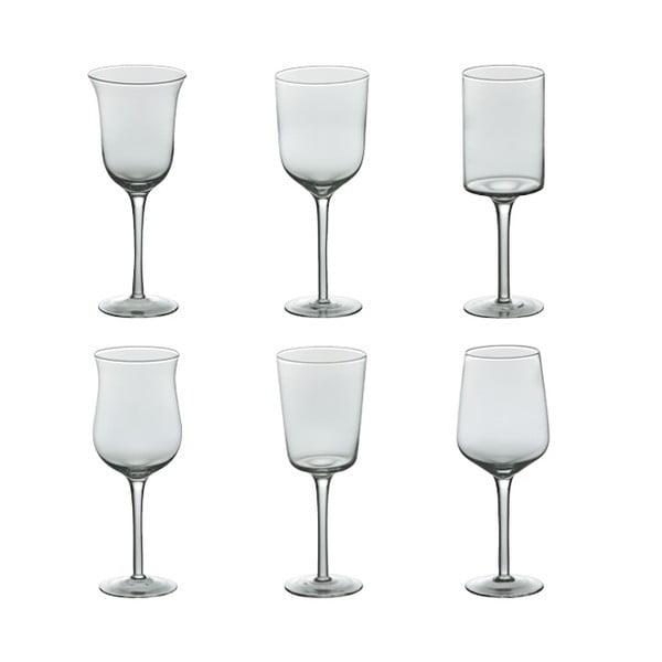 Sada 6 pohárov na víno Desigual Transparent
