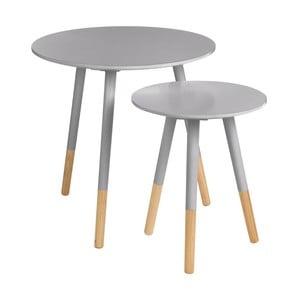 Sada 2 stolíkov Viborg Grey