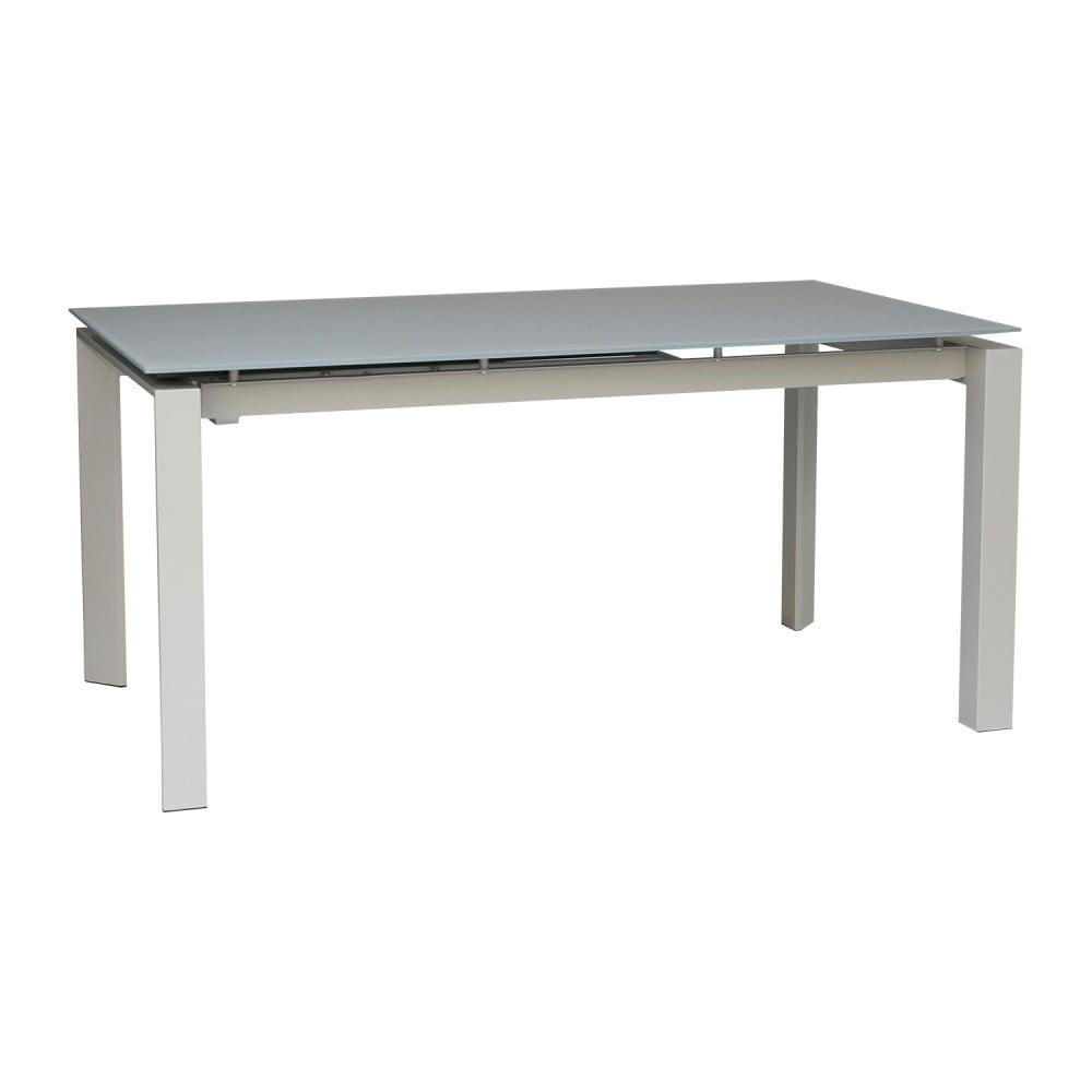 Sivý rozkladací jedálenský stôl sømcasa Marla, 140 × 90 cm