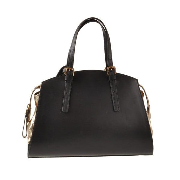 Kožená kabelka Emilio Masi Aston, zlatá/čierna