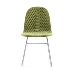 Svetlozelená stolička s kovovými nohami IKER Mannequin V Wave