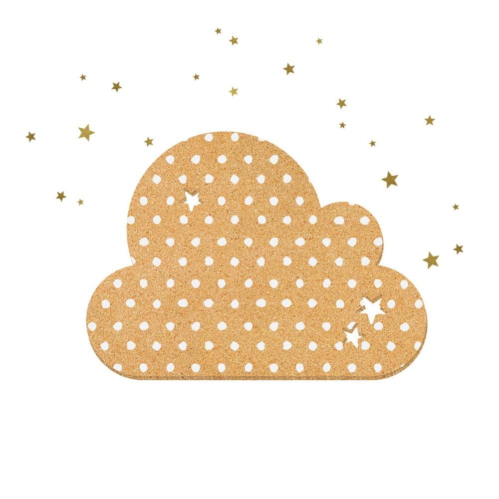 Dekoratívna samolepiaca nástenka Dekornik Dots With Stars, 57 x 40 cm
