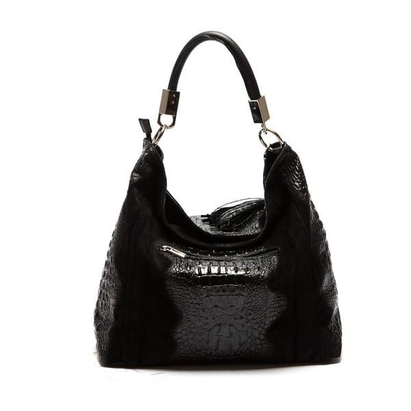 Čierna kožená kabelka Sofia Cardoni Belinda