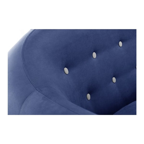 Pohovka pre troch Constellation Navy Blue/Grey/Natural