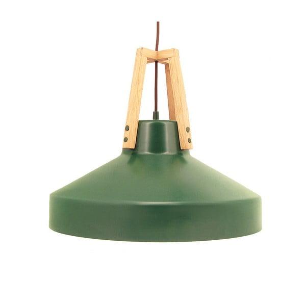 Zelené stropné svetlo Loft You Work, 33 cm