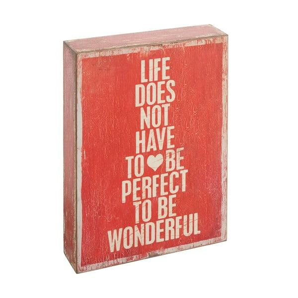 Dekoratívny nápis Not To Be Perfect