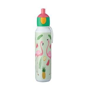 Fľaša na vodu s motívom plameniakov Rosti Pop-Up