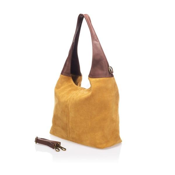 Kožená kabelka Maya, koňaková