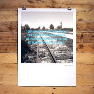 Plagát Jack Kerouac, 30x41 cm