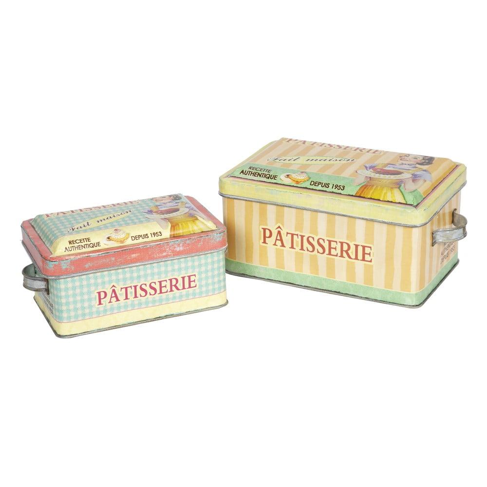 Sada 2 retro dóz Patisserie