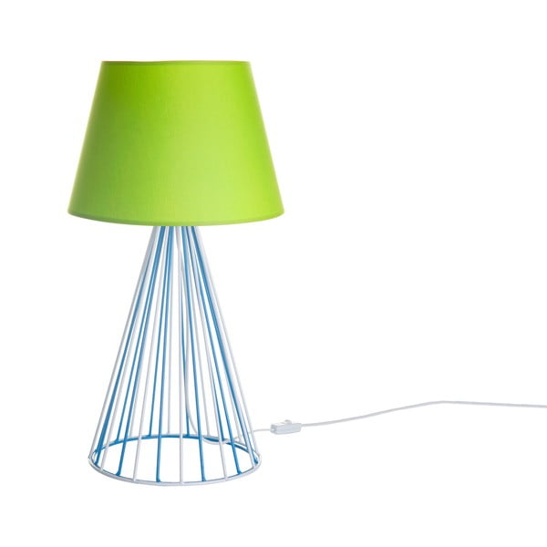Stolová lampa Wiry Lime/Blue
