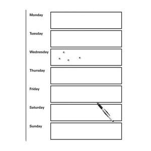 Magnetická popisovacia tabuľa s perom a 4 magnetmi Eurographics My Week