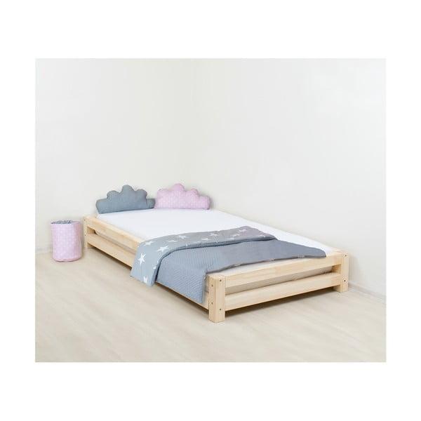 Detská posteľ z lakovaného borovicového dreva Benlemi JAPA, 120 x 180 cm