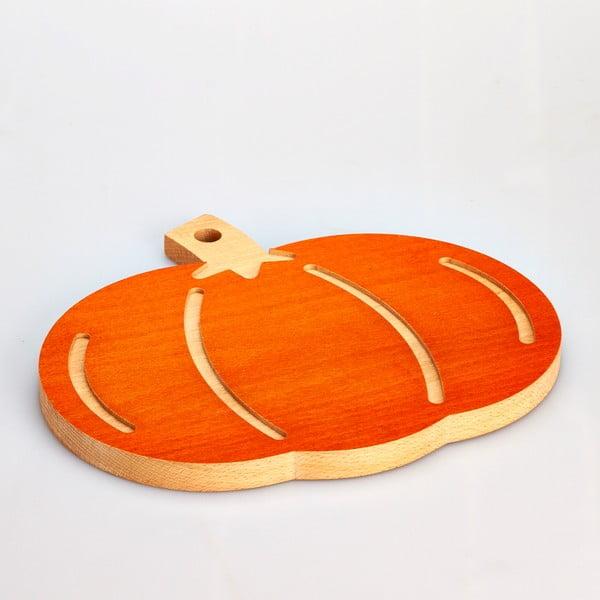 Buková doska na krájanie Pumpkin, 31x27 cm