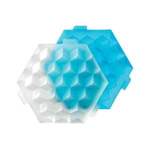 Modrá silikónová forma na ľad Lékué Ice Cube