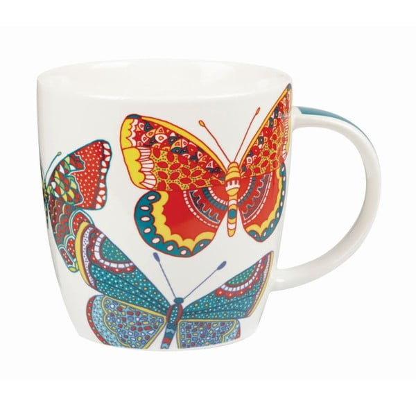 Sada 2 hrnčekov Churchill China Paradise Butterflies, 390 ml