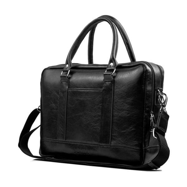 Pánska kožená taška Solier SL02 Black