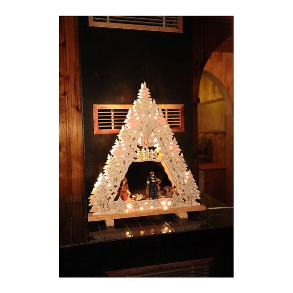 Svietiaca dekorácia Nativity with Glitter