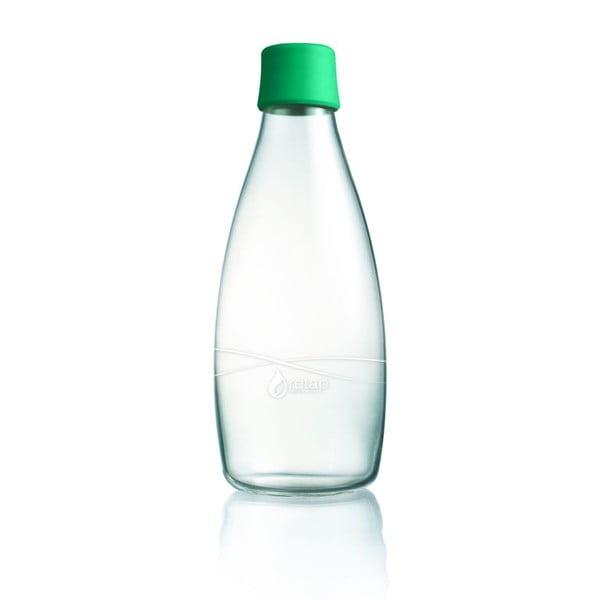 Sýtozelená sklenená fľaša ReTap s doživotnou zárukou, 800ml