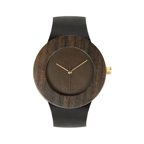 Drevené hodinky Analog Watch Co. Leather & Blackwood