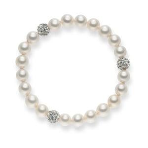Perlový náramok Pearls Of London White Lady, dĺžka 19 cm
