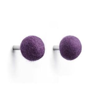 Sada 2 háčikov Kula, fialová