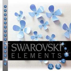 Sada 15 adhezívnych Swarovski krištáľov Fanastick Sapphire