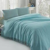 Ľahká prikrývka na posteľ Pique Blue,220x240cm
