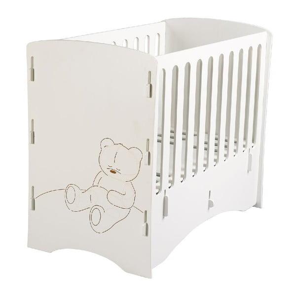 Detská postieľka Teddy, 80x130x105 cm