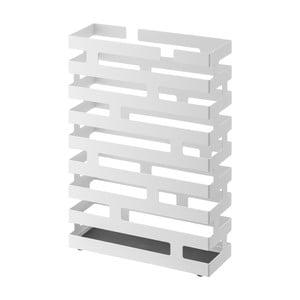Biely stojan na dáždniky YAMAZAKI Brick, šírka 30 cm