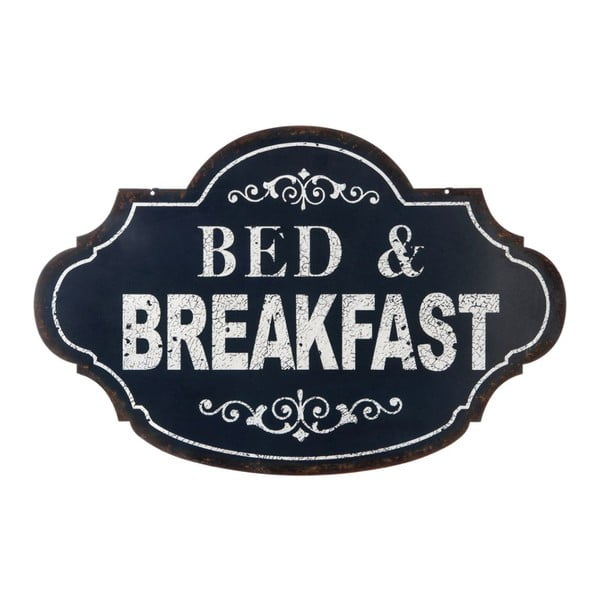 Plechová ceduľa Bed&Breakfast