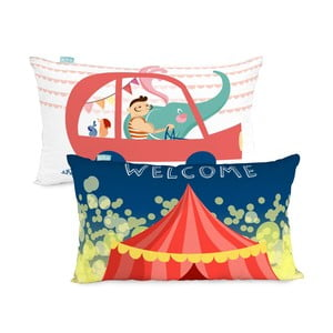 Obliečka na vankúš Little W Fun Circus, 50×30cm