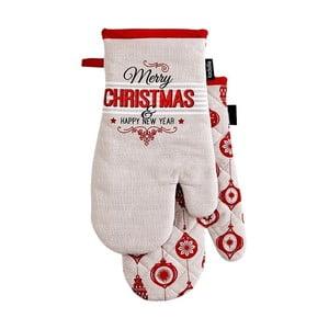 Sada 2 chňapiek s vianočným motívom Ladelle Merry Christmas