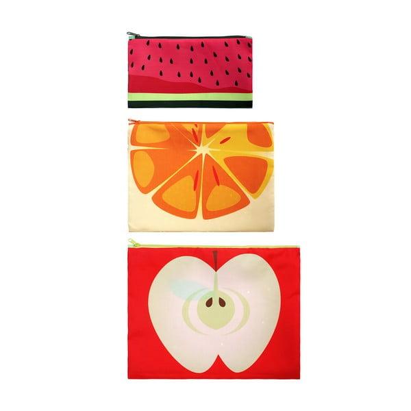 Sada 3 univerzálnych taštičiek Frutti