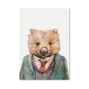 Plagát Wombat, 30x42 cm