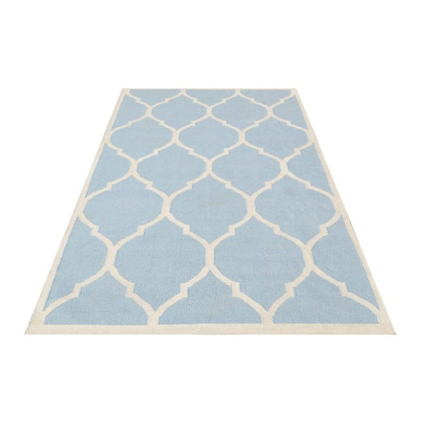 Svetlomodrý vlnený koberec Bakero Lara, 120x180cm