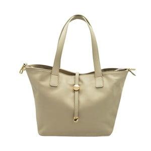 Svetlobéžová kabelka z pravej kože Andrea Cardone Matteo